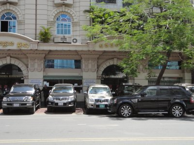 A crazy number of SUVs roam the streets of Phnom Penh