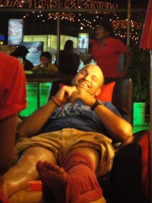 Marin really enjoyed his many, many massages
