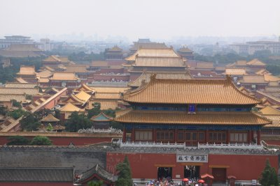 Viewing the Forbidden City from Jingshan Park Hill