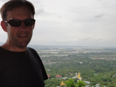 Looking out over Mandalay