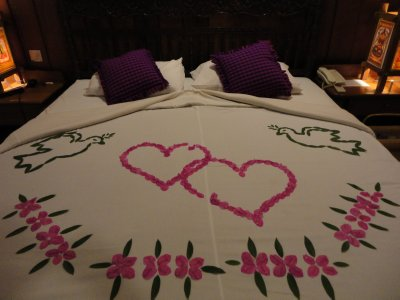 This hotel also thought that we were on honeymoon
