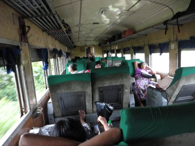Upper Class on a Myanmar train is not quite what one might hope for