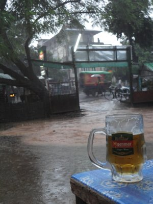Even the hardest monsoon does not keep us from a cold beer