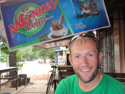 Hot tea at a traditional Burmese Tea House