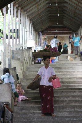 Hiking up Mandalay Hill