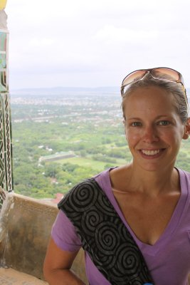 Looking out from Mandalay Hill