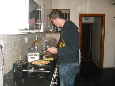 Luuk's night to cook family dinner! We each take turns and cook for everyone in the house