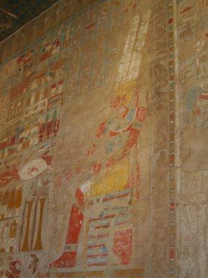Inside temple of Hatchepsut