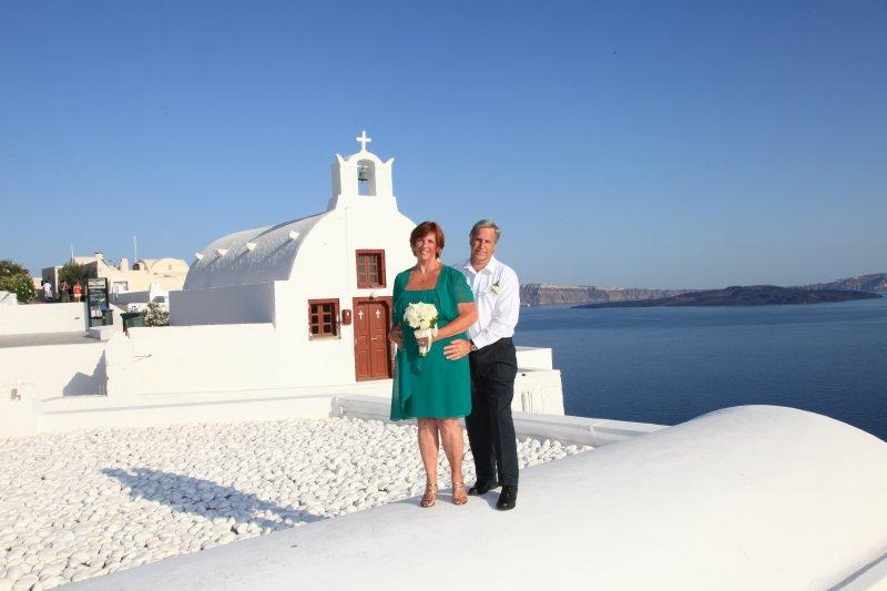 Our Santorini wedding