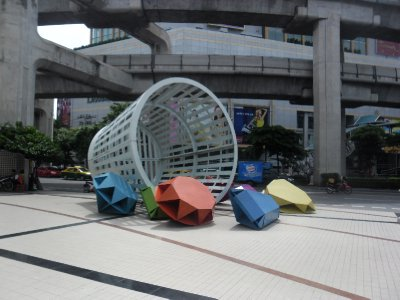 Outside the Museum of Contemporary Art in Siam Square