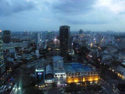 Ho Chi Minh City from the Sheraton Hotel at Dusk