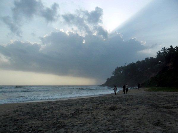 Sunset on Varkala Beach