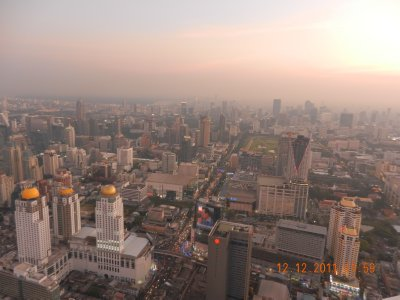 View from Baiyoke Sky Hotel Bangkok