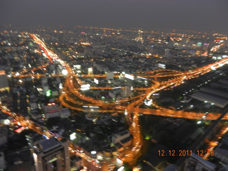 Bangkok road system at night