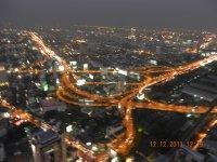 Bangkok road system at night