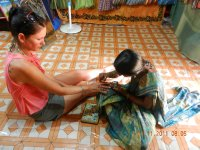 Geeta giving me henna