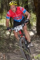 Andrew at home - mountain bike racing