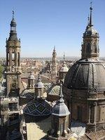 Zaragoza from Basillica de Nuestra señora del pilar