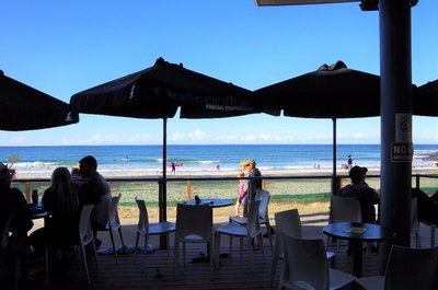 View from the deck of the Sports Bar at the Burleigh Surf Club.