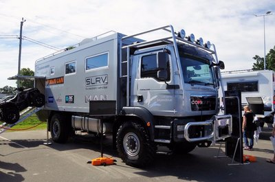 Top of the range Expedition Vehicle - Built on a MAN 4WD weighing in at 18 tonnes and costing about $680,000.