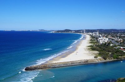 Todays weather photo - Palm Beach from the Tumgun Lookout on Burleigh Head.