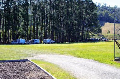 Camping area at the Taylors Arm recreation ground.