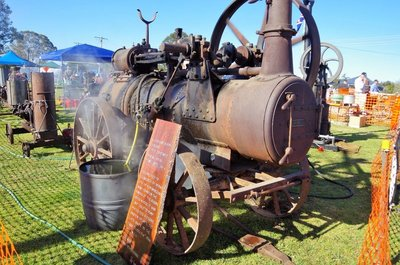 Another Hornsby engine circa 1902 used for pumping water from the Bogan River.