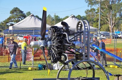 Rotary Aero engine - 12 cylinders.