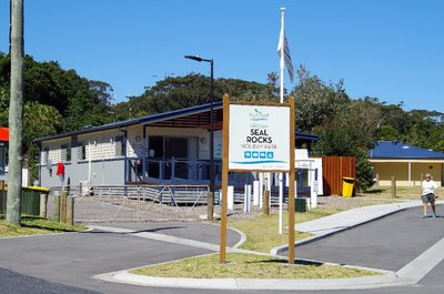 Seal rocks caravan Park - last year we saw this building arrive in 2 parts on a couple of low-loaders.