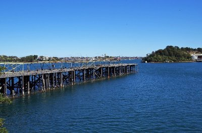 The derelict finger wharf at the coal loader terminal