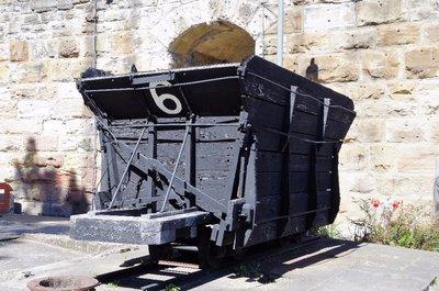A coal loading skip