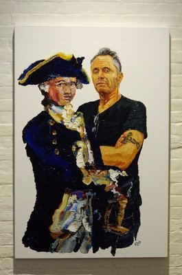 The Captain and Paul - painted by Donald Keys.