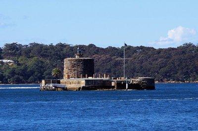 Fort Denison in Sydney Harbour, built 1857.