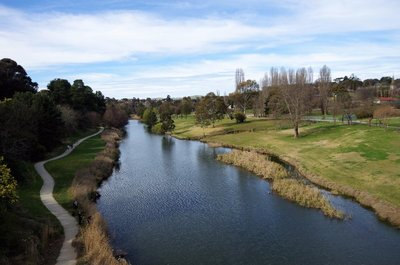 The Yass River from the Hume Bridge.