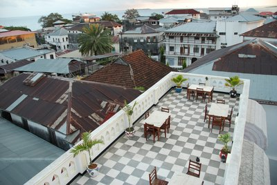 Rooftop restaurant in Stonetown