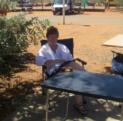 Ayers Rock Campgrounds - trying to find a little shade