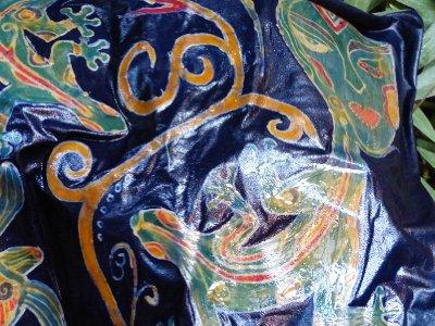 Wet final batik product