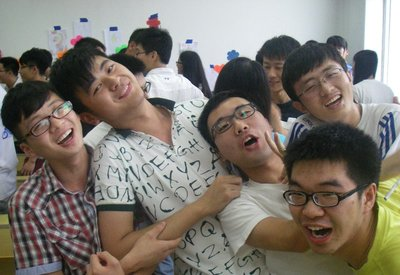Jim's students having some fun