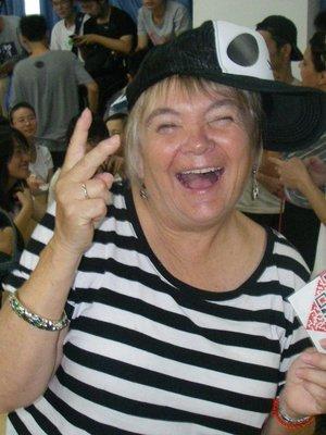 Linda - having a little fun