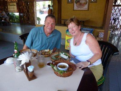 Enjoying lunch at Pawon Pasundan