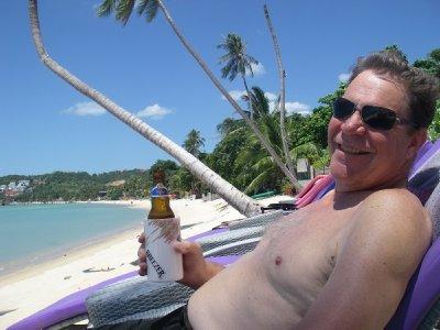 Jim enjoying the beach