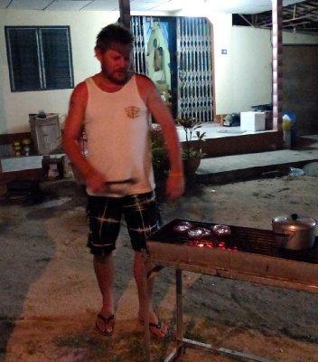 Chris the BBQ chef!!!