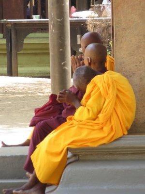 Monks at the Dagoba