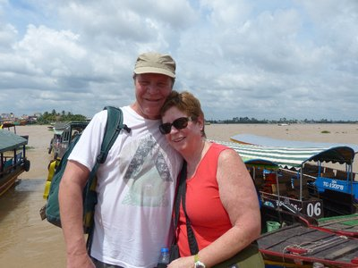 P and J on the Mekong