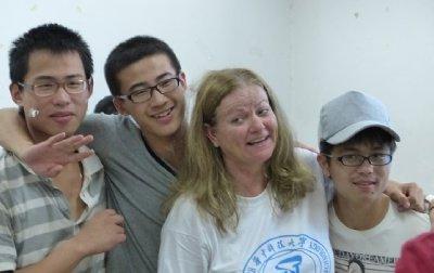 Brenda with Hunter, Naro and Jesse