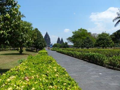 Our first view of Prambanan