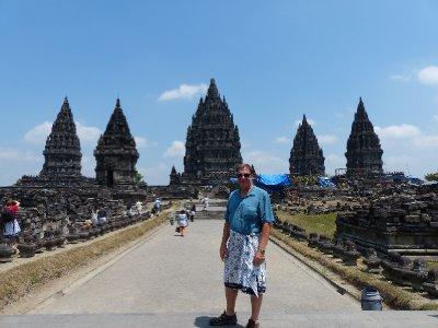 Prambanan from a distance