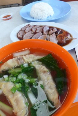 Wan Tan Mee and Duck Rice at New World Park
