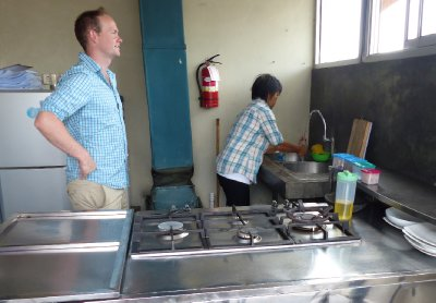 Made and James in the kitchen at Via Via