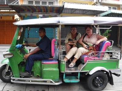Patty and Brenda - First tuk tuk ride of the trip..